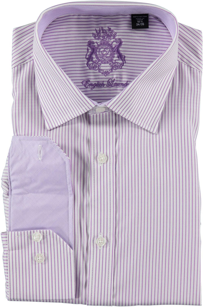 English Laundry Purple Striped Dress Shirt