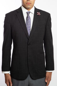 English Laundry 2BSV Notch Lapel Jacket with Elbow Patches