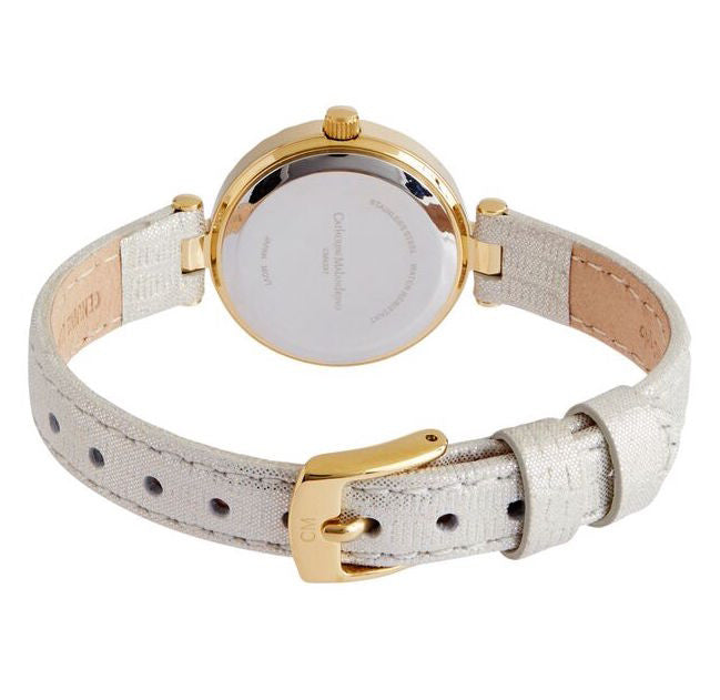White Leather Watch with White Face