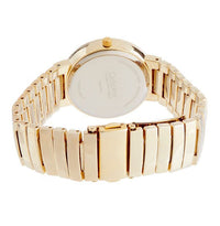 Gold Rhinestone Watch with White Face