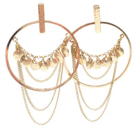 Multi-chain Hoop Earrings