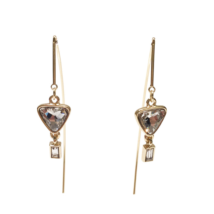 Linear Earrings with Charm