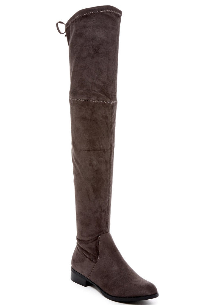 Morcha Faux Fur-Lined Over-The-Knee Boots