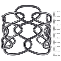 Catherine Malandrino Interlace Cuff Bracelet in Black Rhodium Plated Sterling Silver