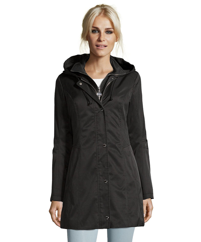 Catherine Malandrino Rain Coat Black
