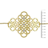 Catherine Malandrino 1/10 CT TW Diamond Bracelet in 18k Yellow Gold Plated Sterling Silver