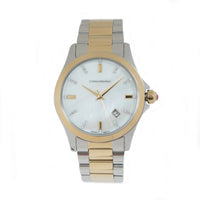 Catherine Malandrino Two Tone Mother of Pearl Fashion Watch
