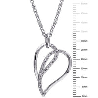 1/8 Ct Diamond TW Heart Necklace with chain, Sterling Silver, Length: 18 inches