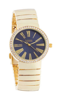 Gold Watch with Navy Face