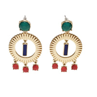 Colorful Circle Earrings