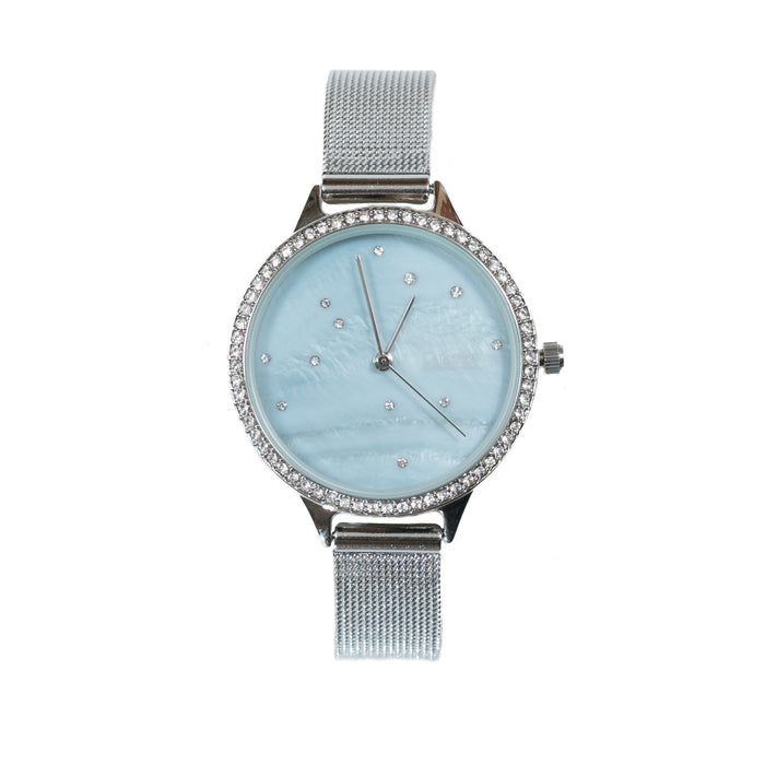 Catherine by Catherine Malandrino Silver/Blue Fashion Watch
