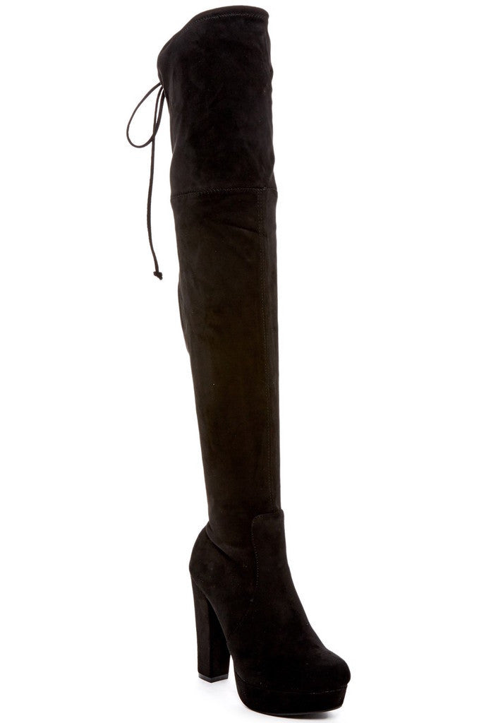 Catherine Catherine Malandrino Enriquia Womens Fashion Faux Fur-Lined High Heel Boots