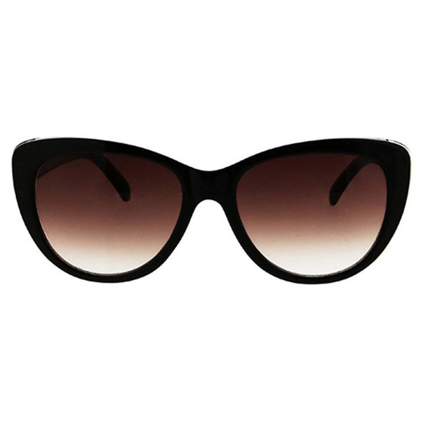 Sleek Cat Sunglasses with Metal Inlay