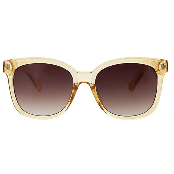 Deep Square Cat Sunglasses with Chain Link Detail