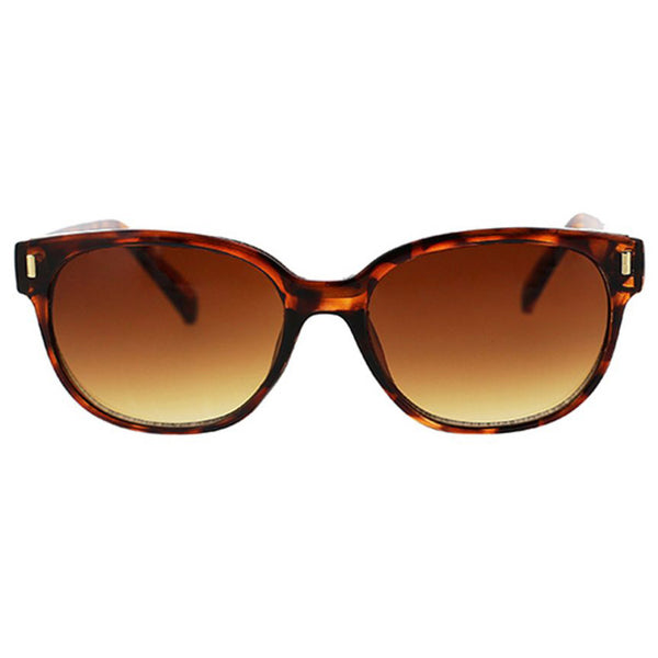 Rounded Modern Square Sunglasses With Metal Inlay
