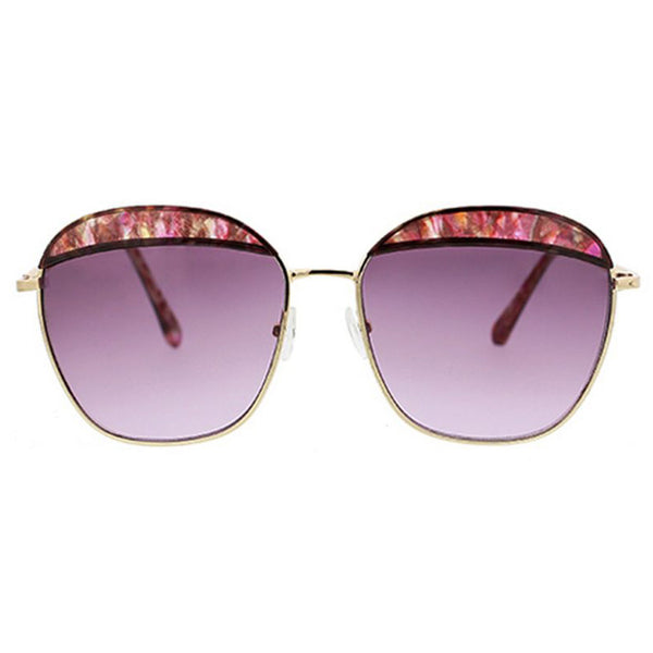 Retro Deep Square Sunglasses with Plastic Brows