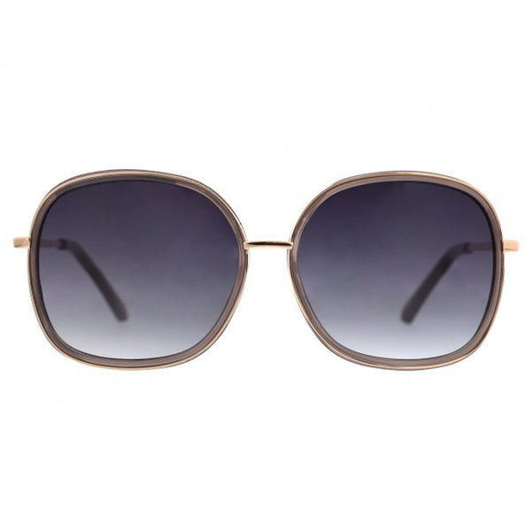 Retro Metal Square Sunglasses with Plastic Inlay