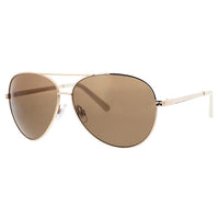 Large Metal Aviator Sunglasses