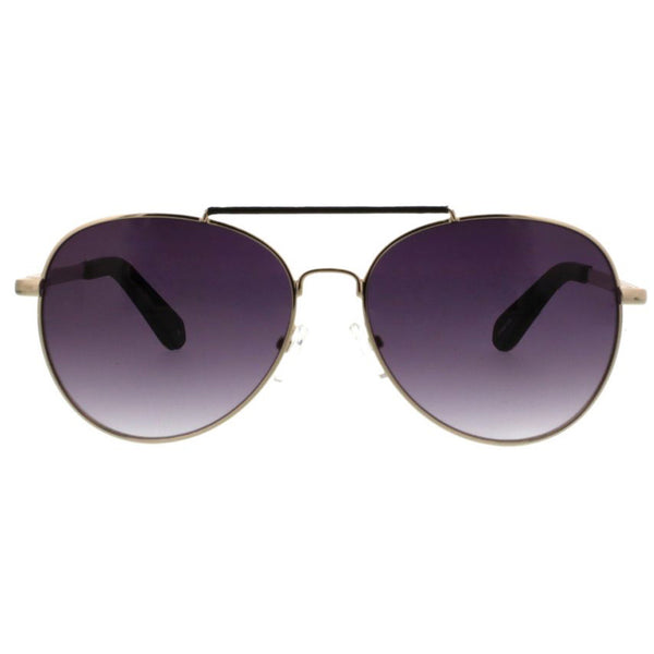 Metal Rounded Aviator With Textured Pleather Overlay