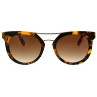 Modern Retro Rounded Combo Sunglasses With Metal Nosebridge Bar