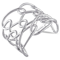 Catherine Malandrino Interlace Cuff Bracelet in Sterling Silver