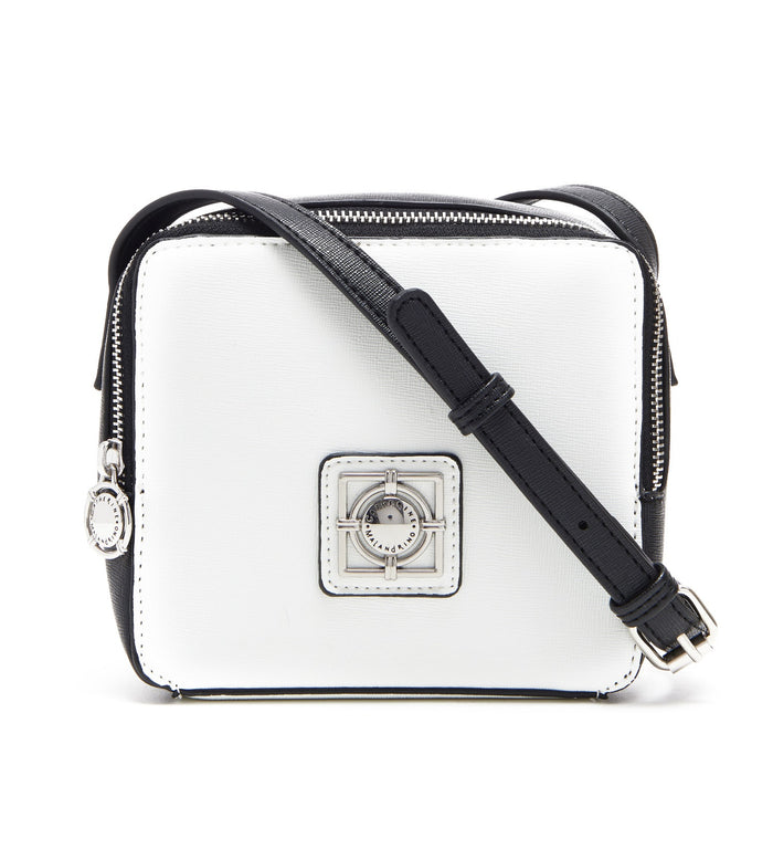 WHITE FLORA CROSSBODY