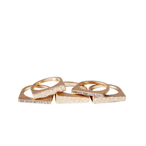 Catherine Catherine  Malandrino stacked ring-