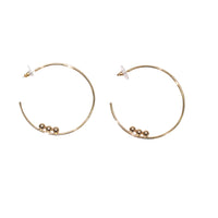 Hoop Earrings with Balls