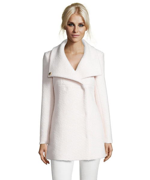 Wool Coat with Funnel Neck