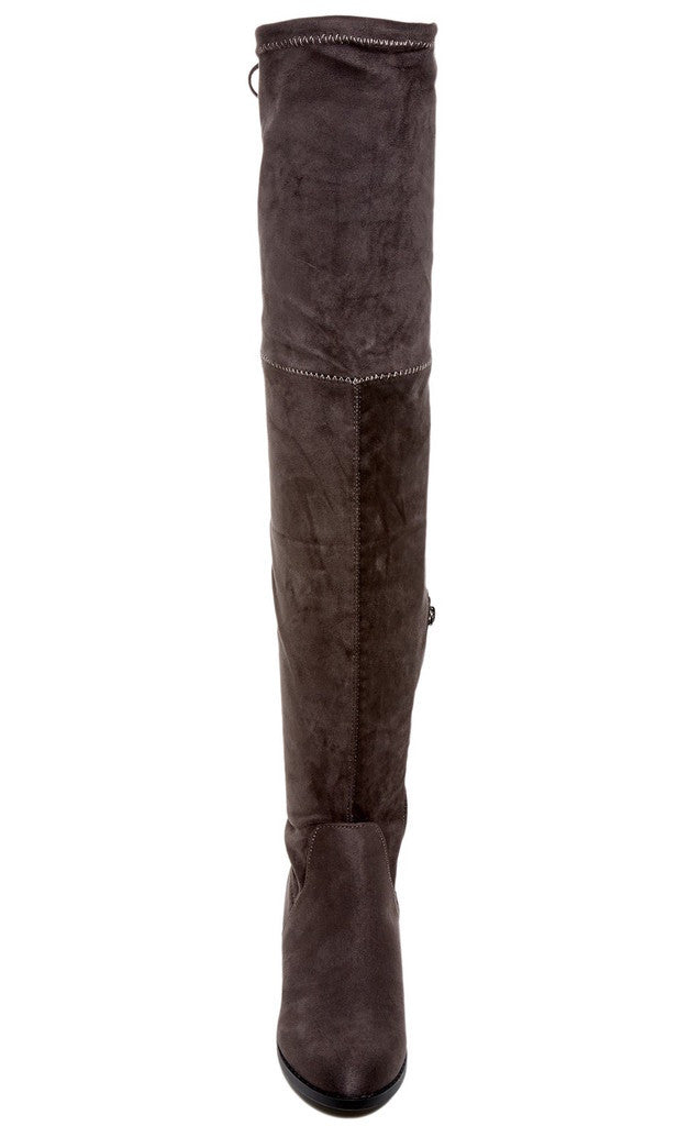 Catherine Catherine Malandrino Morcha Womens Fashion Faux Fur-Lined Over-The-Knee Boots