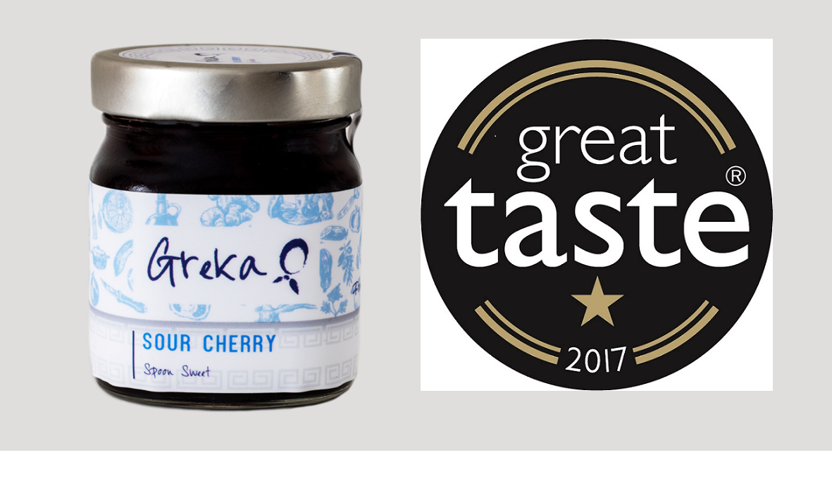 Our Sour Cherry Spoon Sweet was awarded 1 Star Great Taste Award!