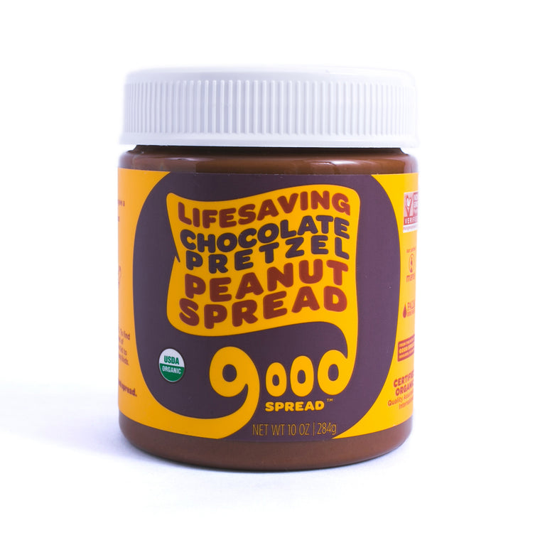Organic Chocolate Pretzel Peanut Spread, 10oz. Jar