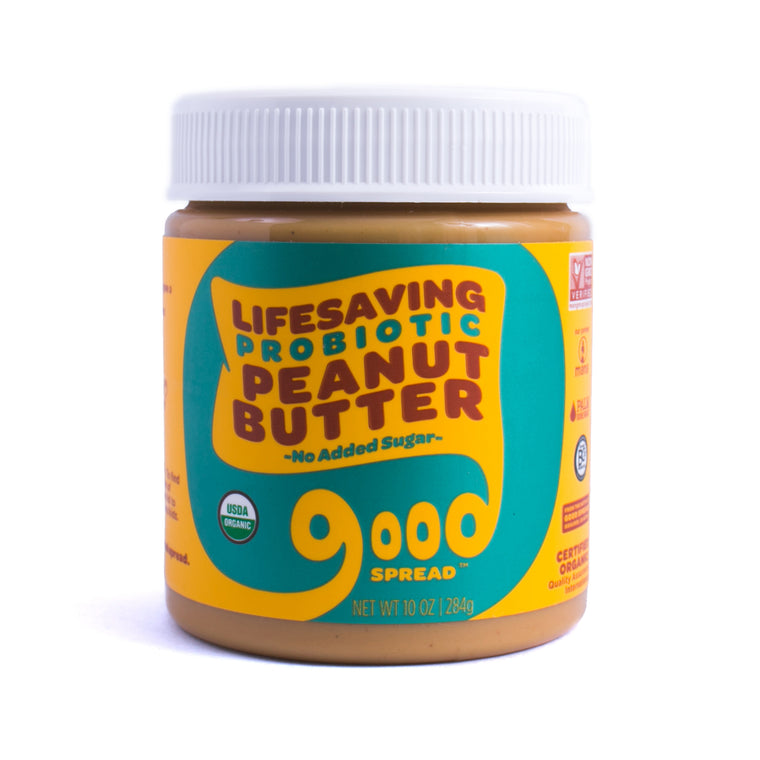 Organic Unsweetened Probiotic Peanut Butter, 10oz. Jar