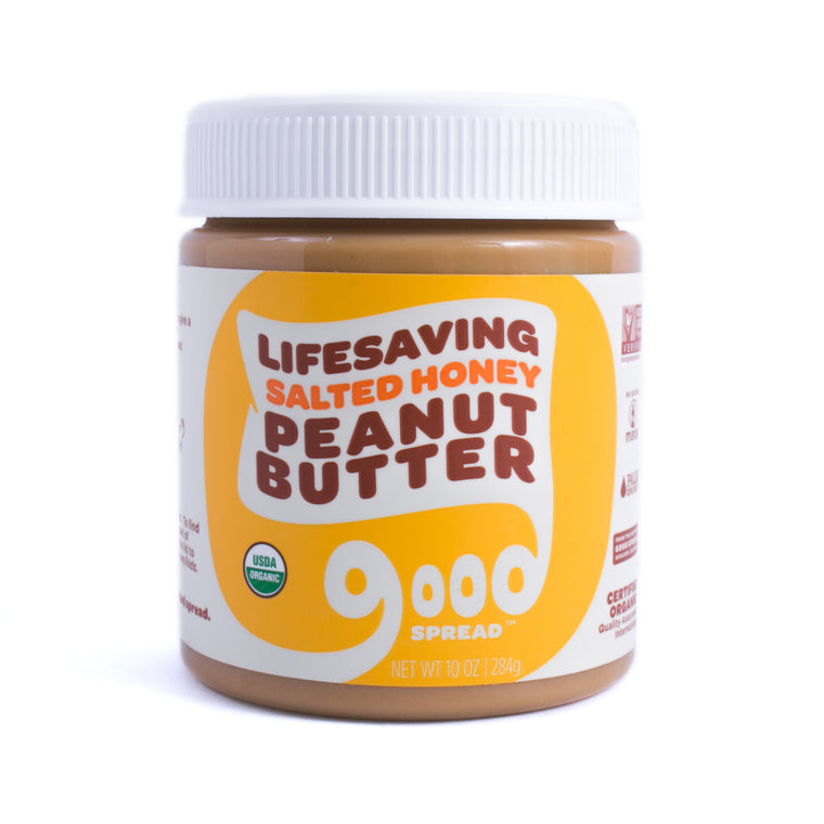 Organic Salted Honey Peanut Butter, 10oz. Jar