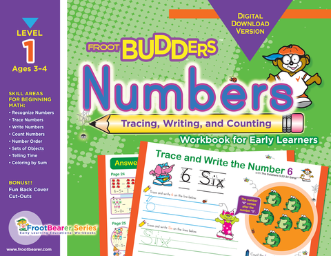FrootBudders™ Numbers Workbook for Early Learners (Digital)