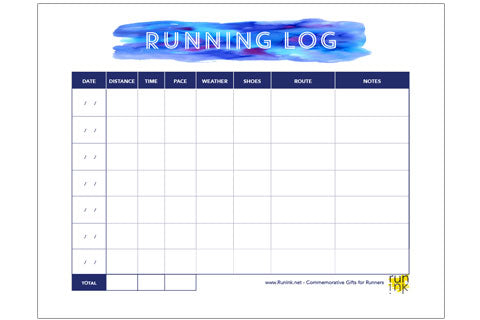 photo regarding Printable Running Log titled Free of charge Downloads + Printables for Runners Function Ink