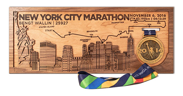NYC Marathon Medal Holder