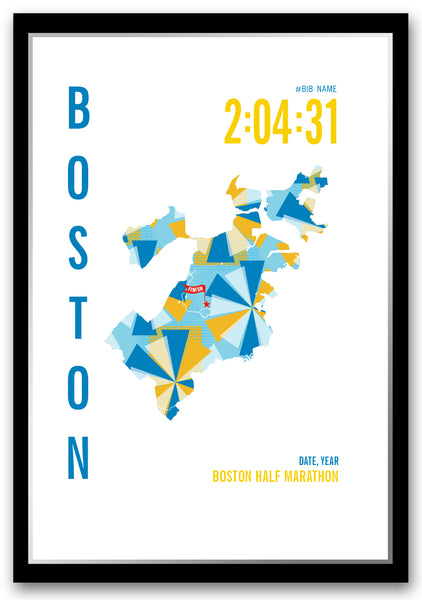 Boston Half Marathoner Map