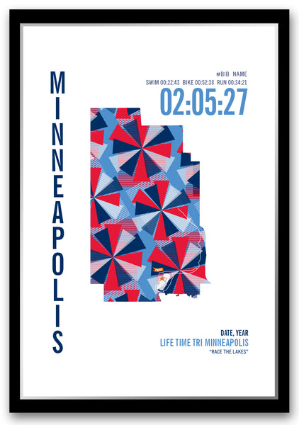 Life Time Minneapolis Triathlon Map
