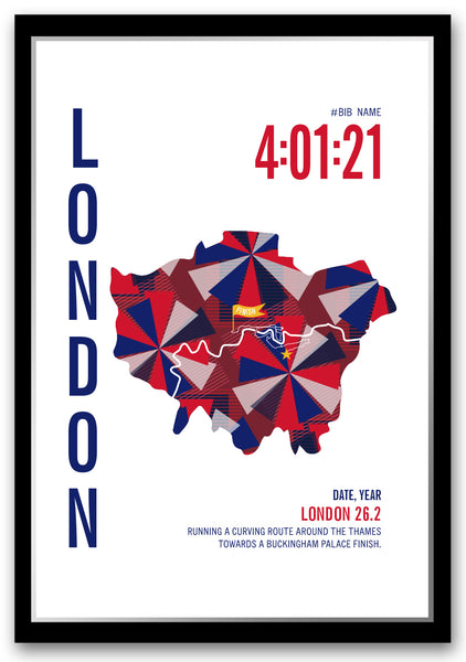 London 26.2 Marathoner Map