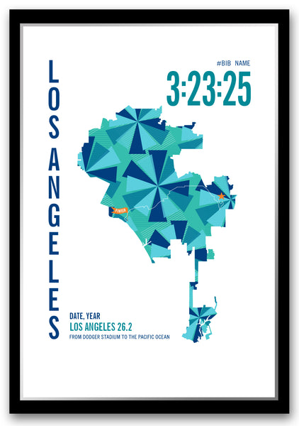 Los Angeles 26.2 Marathoner Map