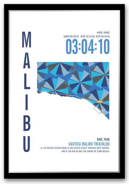 Nautica Malibu Triathlon Map