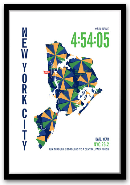 New York City 26.2 Marathoner Map