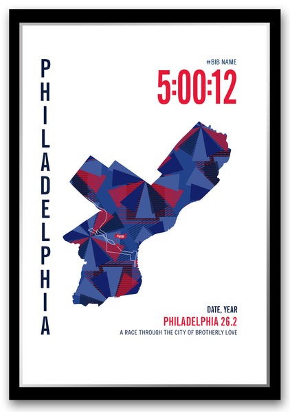 Philadelphia 26.2 Marathoner Map
