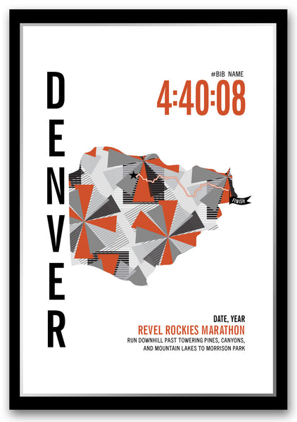 Revel Denver Marathoner Map