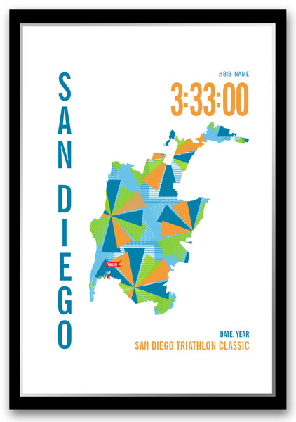 San Diego Triathlon Map