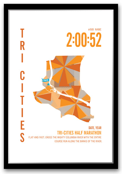 Tri Cities Half Marathoner Map