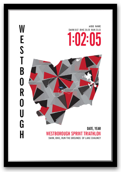Westborough Sprint Triathlon Map
