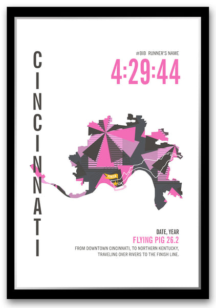 Flying Pig 26.2 Marathoner Map