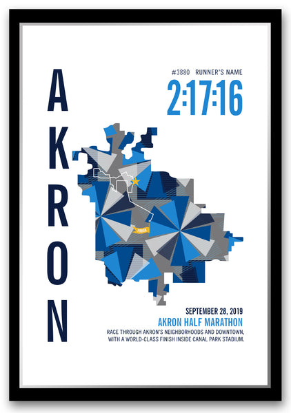 Akron Half Marathoner Map